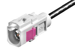 Abbildung TravelControl GPS Signalteiler Steckersystem FAKRA Kupplung gerade