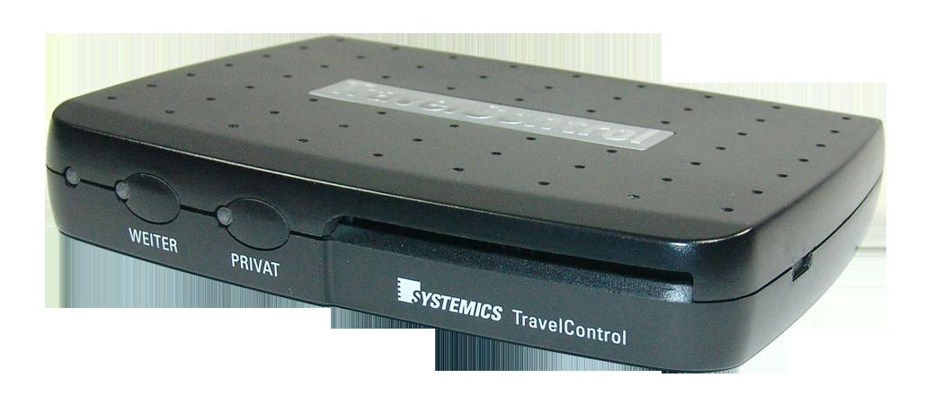 Abbildung TravelControl personal Fahrzeuggerät ohne Clip-Halterung auf der Seite TravelControl Technische Daten