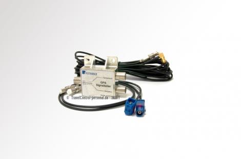 TravelControl GPS Signalteiler Typ FAKRA komplett mit HF Kabeln