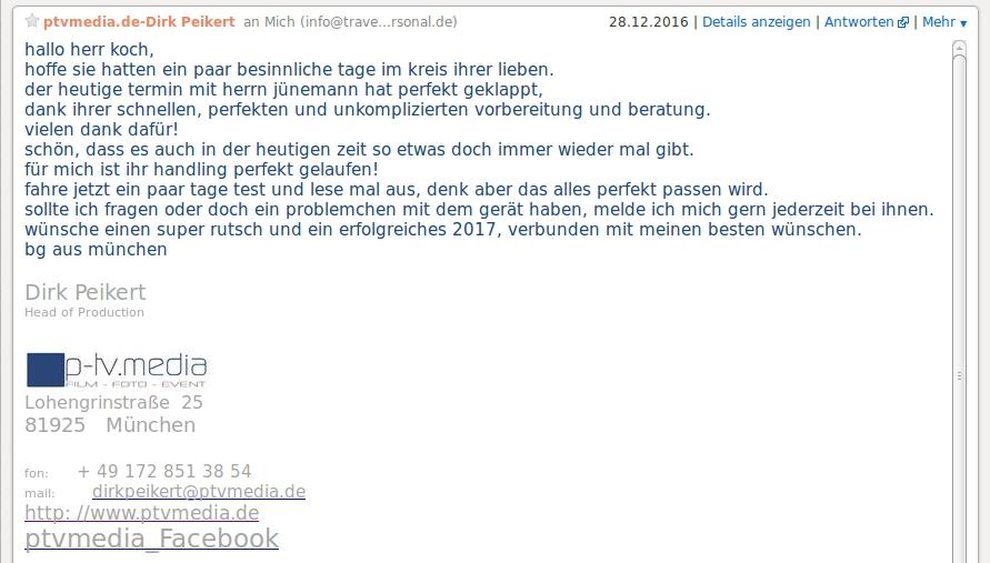 Referenz 1 p-tv.mediam München